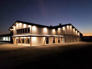 Sunset on barn